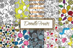 Hand-drawn ink Doodle Fruit Patterns