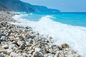 Lefkada coast beach (Greece)