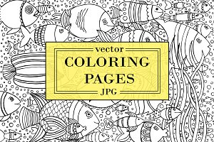 Coloring pages for adults and kids