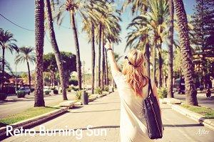Retro Burning Sun - Photoshop Action