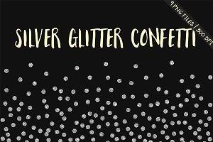 Silver glitter confetti clipart