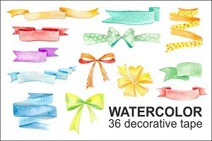 watercolor decorative tape