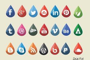 Social Media Piconic (Drop Flat)