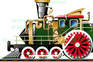 Steampunk Steam locomotive