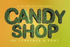 Candy Shop - 3D Lettering & Font