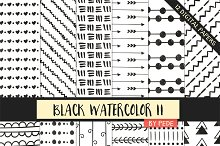 Black and white watercolor papers