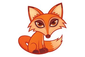 Cartoon Red Fox