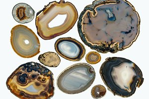 Agate collection.