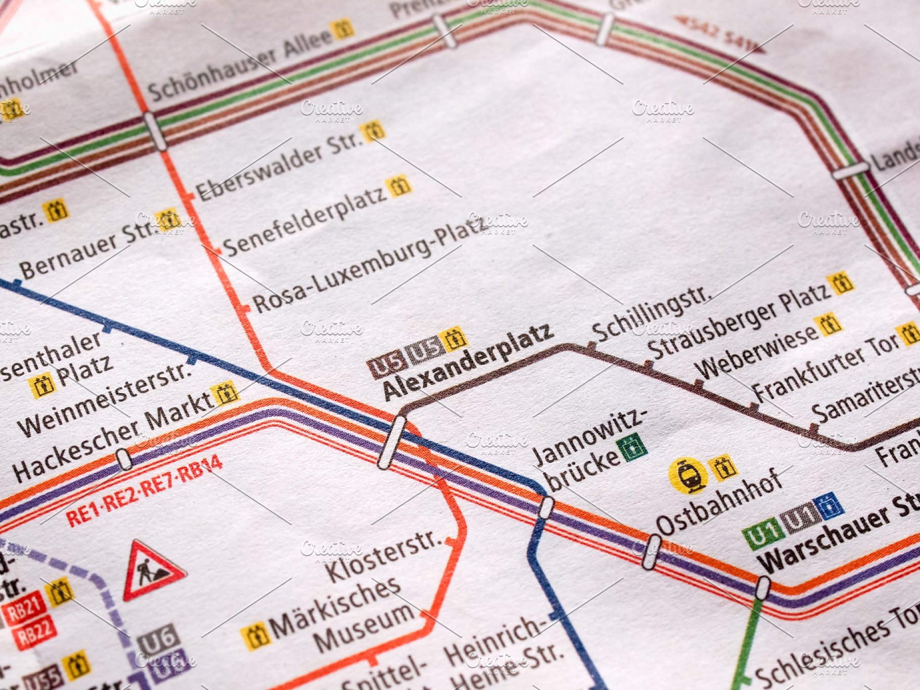 Creative Subway Map.Detail Of Berlin Subway Map
