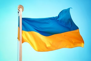 Ukrainian blue and yellow flag