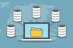 Data storage concept banner