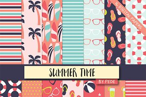 Summer digital paper