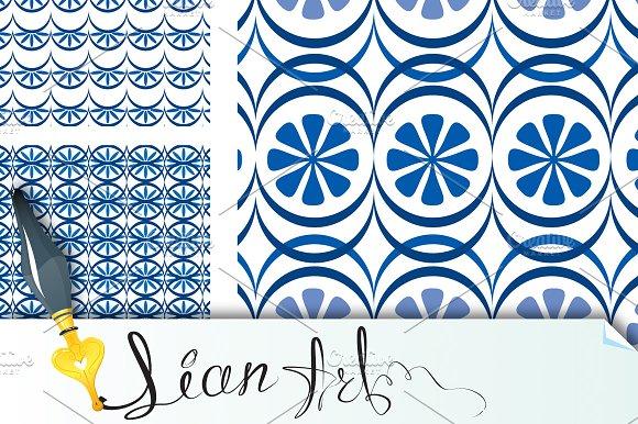 Set of 8 seamless patterns