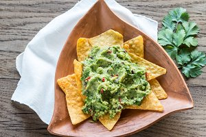 Guacamole with tortilla