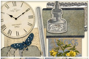Time Flies Printable Journal Kit