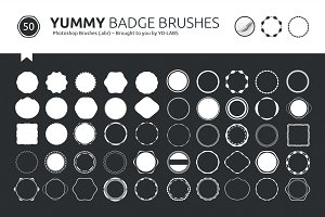 Yummy Badge Brushes