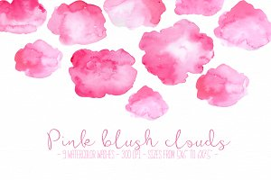 Pink blush clouds