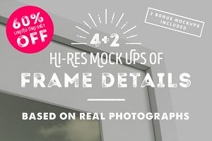 4 Frame Detail MockUps + Bonus