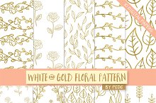White and gold digital paper