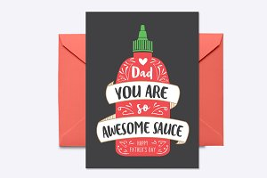 Awesome Sauce Greeting Card Template
