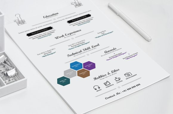 Infographic Resume - Ai & Docx in Resume Templates - product preview 1