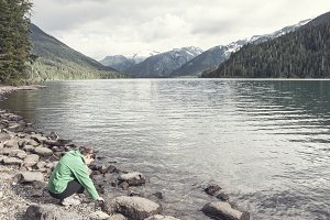 Woman by Water in British Columbia