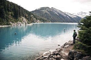 Aqua Blue Lake in British Columbia