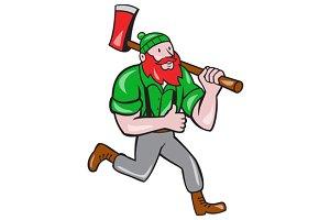Paul Bunyan Lumberjack Axe Running