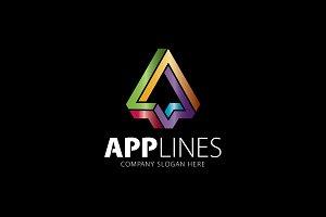Applines A Letter Logo