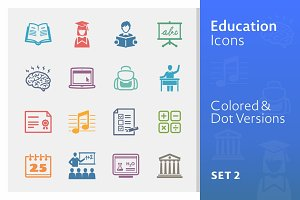 Education Icons Set 2 | Colored