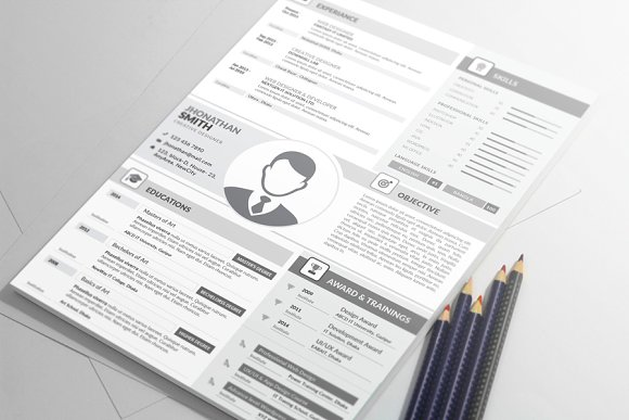 MS Word Resume Template Cover Letter
