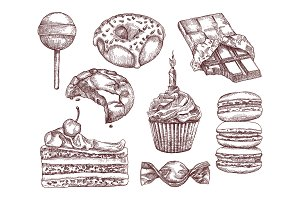 Confectionery, sketches