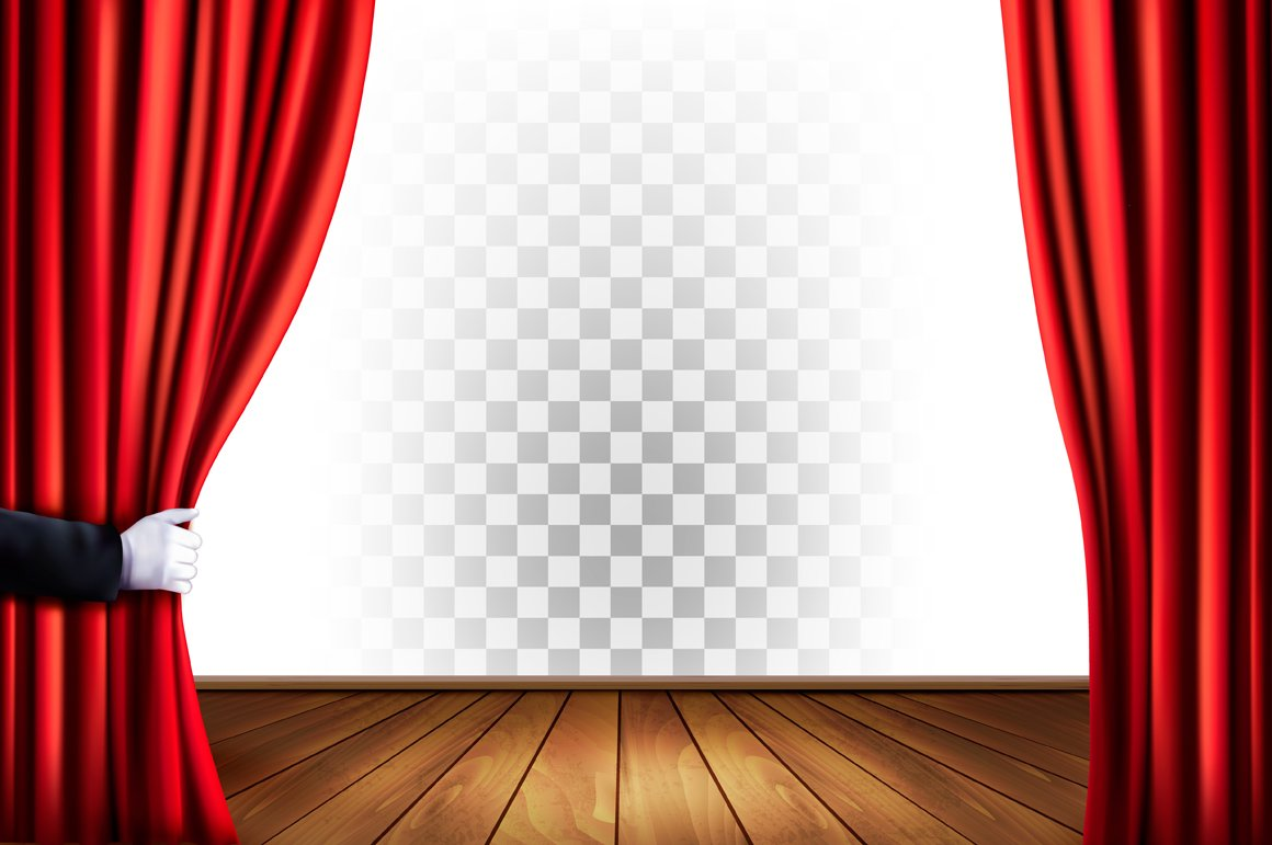 Theater Curtain Background Illustrations Creative Market