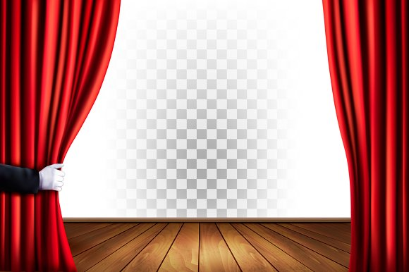 Theater Curtain Background Ilrations