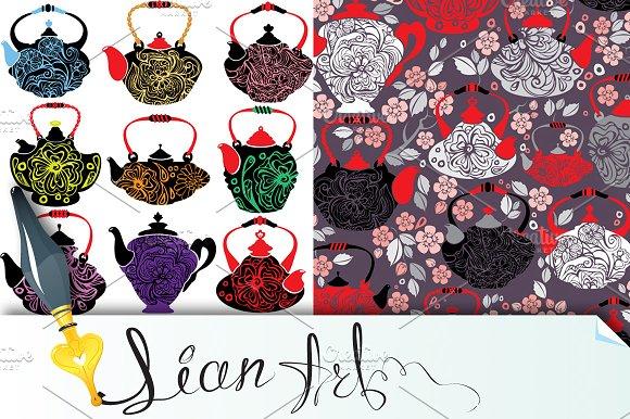 Retro design china tea pots
