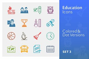 Education Icons Set 3 | Colored