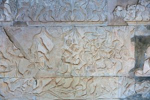 Stone Carving in Angkor wat