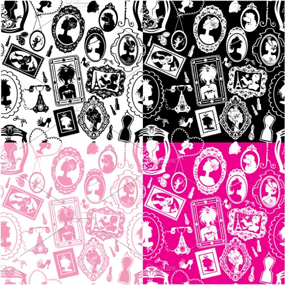 Glamour girl portraits in Patterns - product preview 1