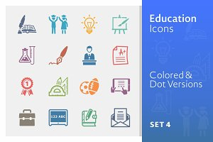 Education Icons Set 4 | Colored