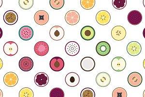 25 Round Fruit Icons