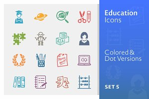 Education Icons Set 5 | Colored
