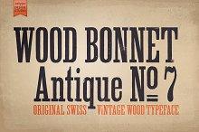 Wood Bonnet Antique No. 7