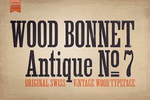 Wood Bonnet Antique No. 7