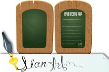 Wooden sign board - object isolated