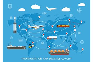 Transportation and Logistics Concept