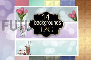 14 backgrounds + 1 file with banners