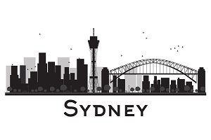 Sydney City skyline silhouette