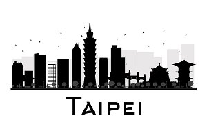 Taipei City skyline silhouette