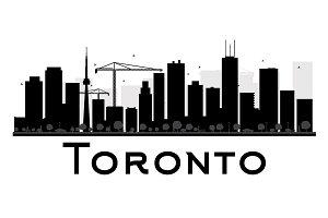 Toronto City skyline silhouette