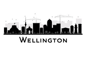 Wellington City skyline silhouette